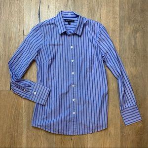 BANANA REPUBLIC Striped Button-Up